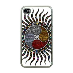 Whole Complete Human Qualities Apple Iphone 4 Case (clear)