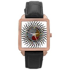 Whole Complete Human Qualities Rose Gold Leather Watch
