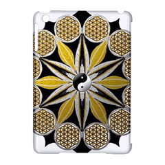 Mandala Yin Yang Live Flower Apple Ipad Mini Hardshell Case (compatible With Smart Cover)