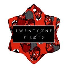 Twenty One Pilots Pattern Snowflake Ornament (two Sides)