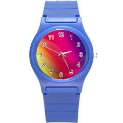 Background Wallpaper Design Texture Round Plastic Sport Watch (s)