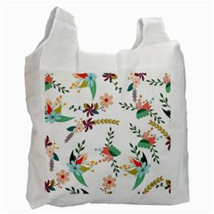 Floral Backdrop Pattern Flower Recycle Bag (two Side)