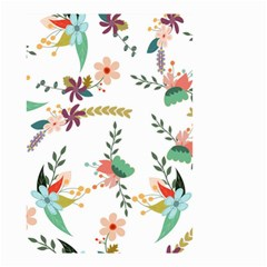 Floral Backdrop Pattern Flower Small Garden Flag (two Sides)