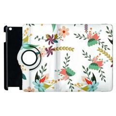 Floral Backdrop Pattern Flower Apple Ipad 3/4 Flip 360 Case