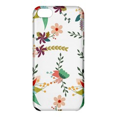Floral Backdrop Pattern Flower Apple Iphone 5c Hardshell Case
