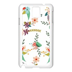 Floral Backdrop Pattern Flower Samsung Galaxy Note 3 N9005 Case (white)