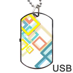The Background Wallpaper Design Dog Tag Usb Flash (two Sides)