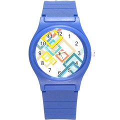 The Background Wallpaper Design Round Plastic Sport Watch (s)