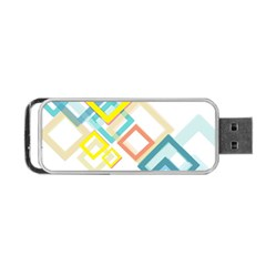 The Background Wallpaper Design Portable Usb Flash (two Sides)