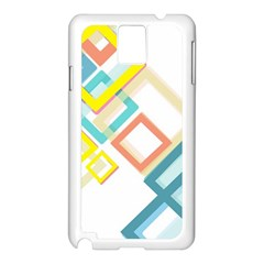 The Background Wallpaper Design Samsung Galaxy Note 3 N9005 Case (white)