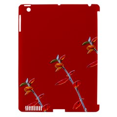 Red Background Paper Plants Apple Ipad 3/4 Hardshell Case (compatible With Smart Cover)
