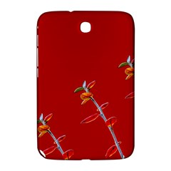 Red Background Paper Plants Samsung Galaxy Note 8 0 N5100 Hardshell Case