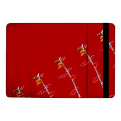 Red Background Paper Plants Samsung Galaxy Tab Pro 10 1  Flip Case