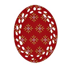 Pattern Background Holiday Ornament (oval Filigree)