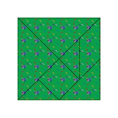Bird Blue Feathers Wing Beak Acrylic Tangram Puzzle (4  X 4 )