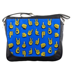 Emojis Hands Fingers Background Messenger Bags