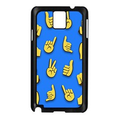 Emojis Hands Fingers Background Samsung Galaxy Note 3 N9005 Case (black)