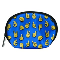 Emojis Hands Fingers Background Accessory Pouches (medium)