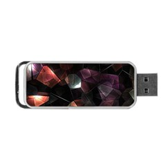 Crystals Background Design Luxury Portable Usb Flash (one Side)