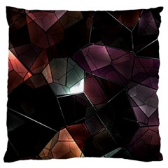Crystals Background Design Luxury Standard Flano Cushion Case (one Side)