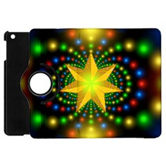 Christmas Star Fractal Symmetry Apple Ipad Mini Flip 360 Case