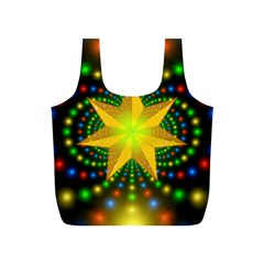 Christmas Star Fractal Symmetry Full Print Recycle Bags (s)
