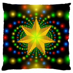Christmas Star Fractal Symmetry Standard Flano Cushion Case (two Sides)