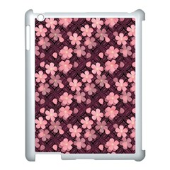 Cherry Blossoms Japanese Style Pink Apple Ipad 3/4 Case (white)