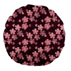 Cherry Blossoms Japanese Style Pink Large 18  Premium Round Cushions