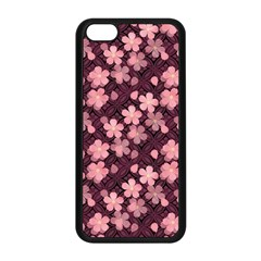 Cherry Blossoms Japanese Style Pink Apple Iphone 5c Seamless Case (black)