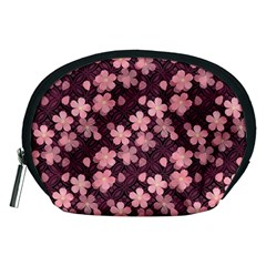 Cherry Blossoms Japanese Style Pink Accessory Pouches (medium)