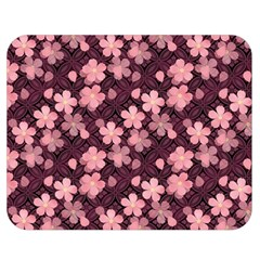 Cherry Blossoms Japanese Style Pink Double Sided Flano Blanket (medium)