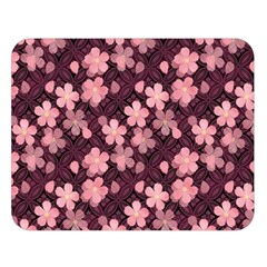 Cherry Blossoms Japanese Style Pink Double Sided Flano Blanket (large)