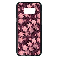 Cherry Blossoms Japanese Style Pink Samsung Galaxy S8 Plus Black Seamless Case