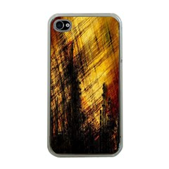 Refinery Oil Refinery Grunge Bloody Apple Iphone 4 Case (clear)