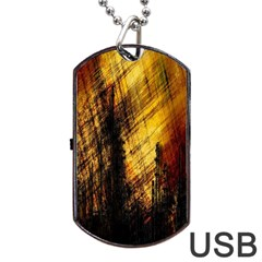 Refinery Oil Refinery Grunge Bloody Dog Tag Usb Flash (two Sides)