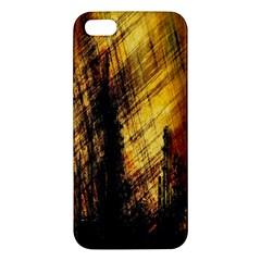 Refinery Oil Refinery Grunge Bloody Apple Iphone 5 Premium Hardshell Case