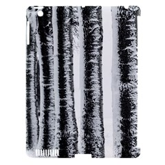Row Trees Nature Birch Apple Ipad 3/4 Hardshell Case (compatible With Smart Cover)