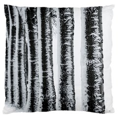 Row Trees Nature Birch Large Cushion Case (two Sides)