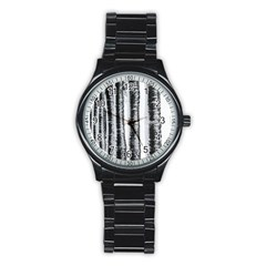 Row Trees Nature Birch Stainless Steel Round Watch