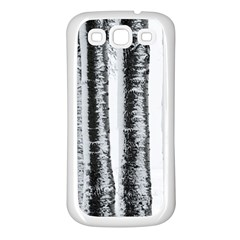 Row Trees Nature Birch Samsung Galaxy S3 Back Case (white)