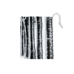 Row Trees Nature Birch Drawstring Pouches (small)