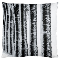 Row Trees Nature Birch Large Flano Cushion Case (two Sides)