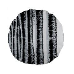Row Trees Nature Birch Standard 15  Premium Flano Round Cushions