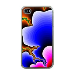 Fractal Background Pattern Color Apple Iphone 4 Case (clear)