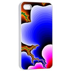 Fractal Background Pattern Color Apple Iphone 4/4s Seamless Case (white)