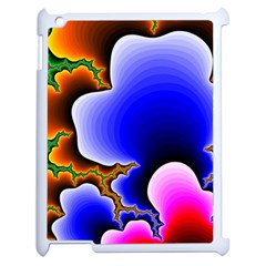 Fractal Background Pattern Color Apple Ipad 2 Case (white)
