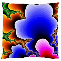 Fractal Background Pattern Color Large Cushion Case (two Sides)