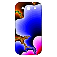 Fractal Background Pattern Color Samsung Galaxy S3 S Iii Classic Hardshell Back Case