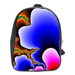 Fractal Background Pattern Color School Bag (xl)